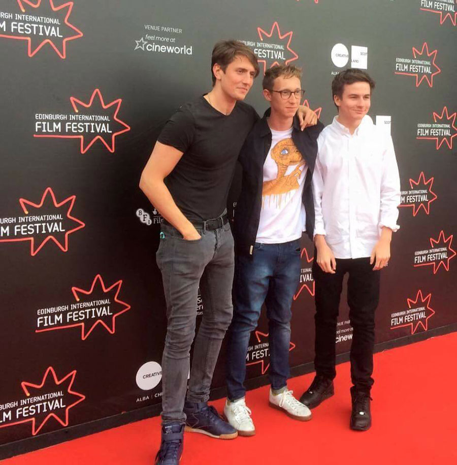 Morgan Watkins, Joe Stevenson, Scott Chambers at the premiere of CHICKEN at the Edinburgh International Film Festival